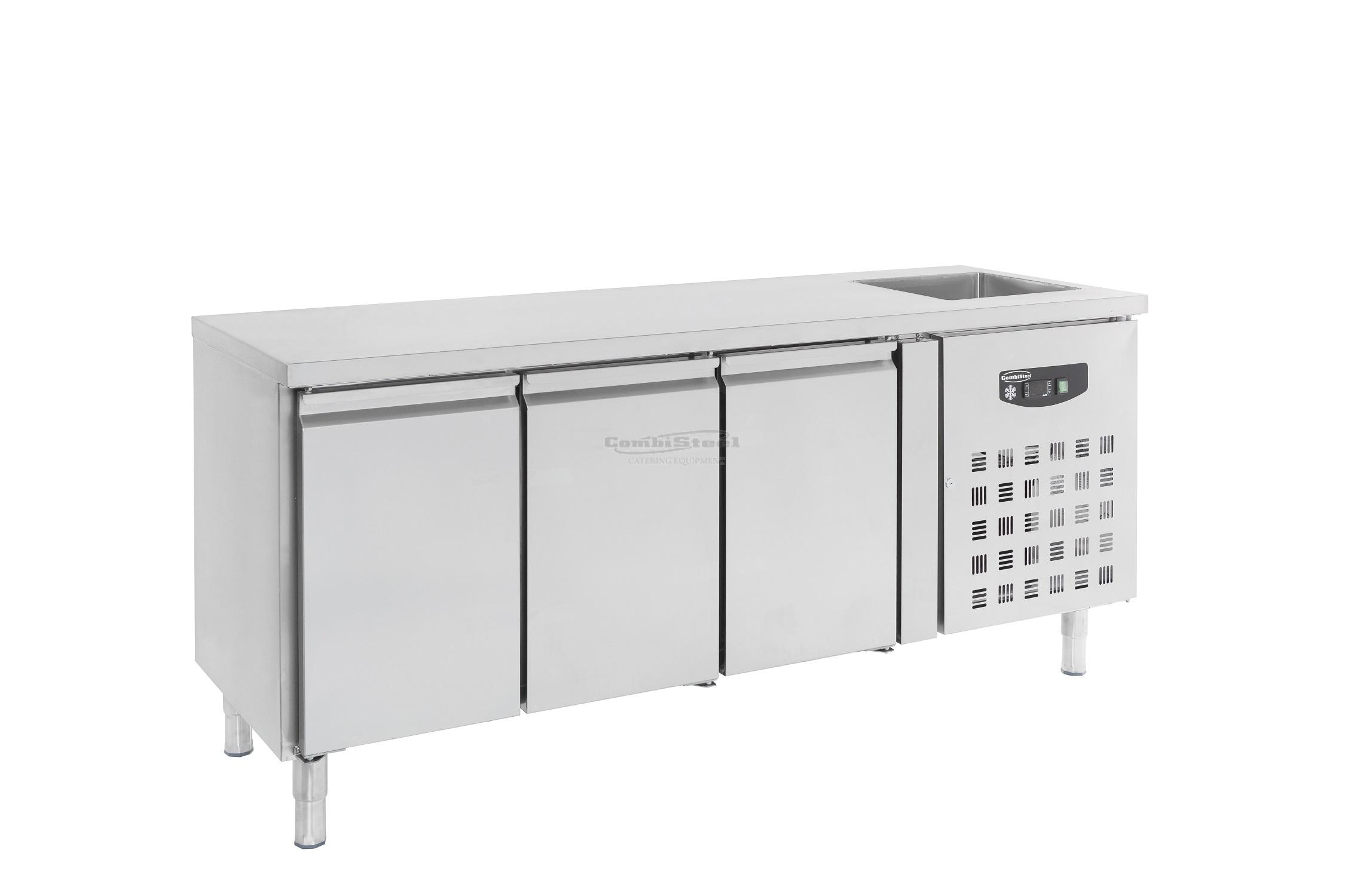 700 REFRIGERATED COUNTER SINK 3 DOORS - 7450.0215 | Spiteri Catering