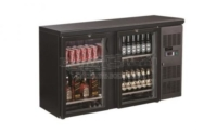BACKBAR COOLER BLACK 2 DOORS - 7450.0335