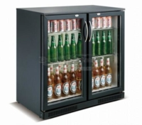 BACKBAR COOLER BLACK 2 DOORS - 7455.1305