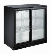 BACKBAR COOLER BLACK 2 SLIDING DOORS - 7455.1315