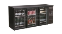 BACKBAR COOLER BLACK 3 DOORS - 7450.0340