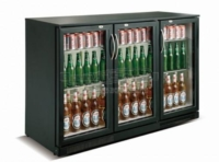 BACKBAR COOLER BLACK 3 DOORS - 7455.1310