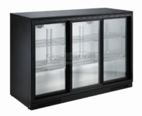 BACKBAR COOLER BLACK 3 SLIDING DOORS - 7455.1320