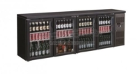 BACKBAR COOLER BLACK 4 DOORS - 7450.0345