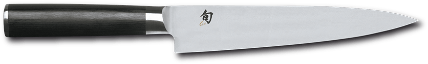 "BLADE TYPES - Small slicing knife # DM-0761, Blade 7.0"" / 18,0 cm, Handle 12,2 cm > FLEXIBLE AUS8A STEEL (NO DAMASK)"