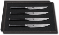 SHUN CLASSIC SETS, WITH FINE WOOD PACKAGING - Steak knife set # DMS-400 Content: 4 x Steak knife DM-0711