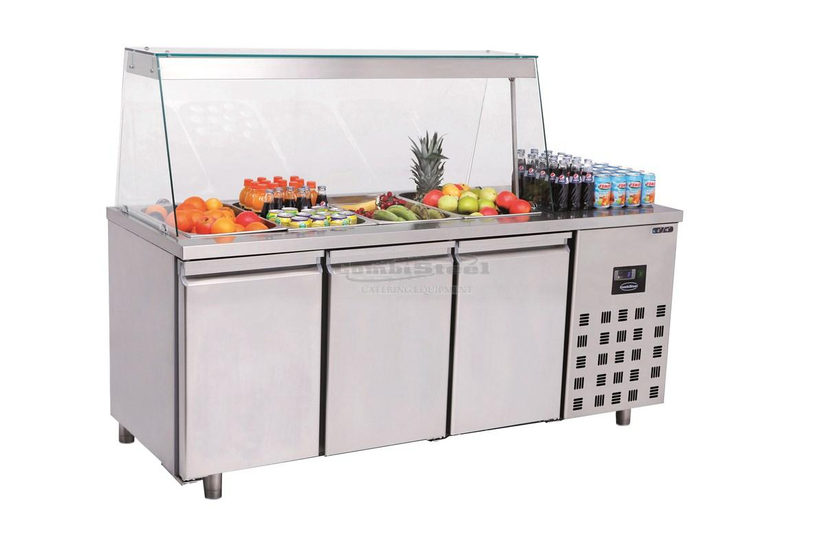 SALADETTE 3 DOORS 4X 1/1GN CONTAINER - 7489 | Spiteri Catering